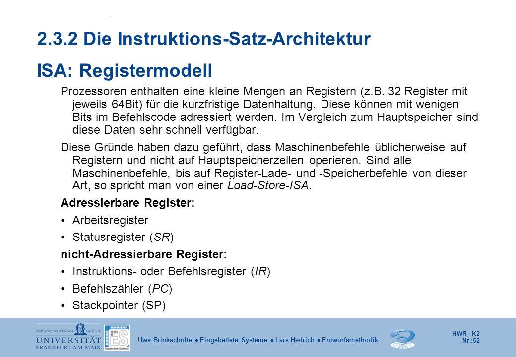 2.3.2 Die Instruktions-Satz-Architektur