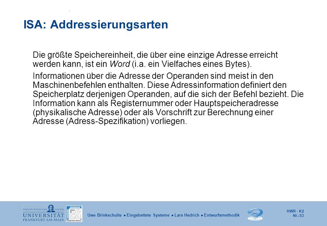 ISA: Addressierungsarten