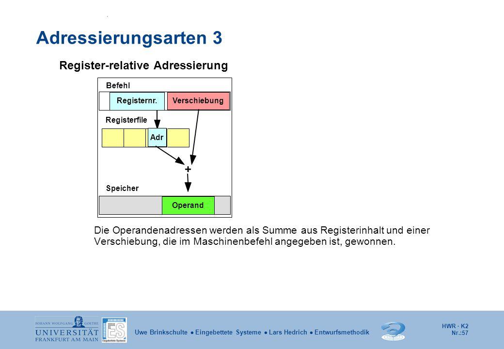 Adressierungsarten 3 Register-relative Adressierung