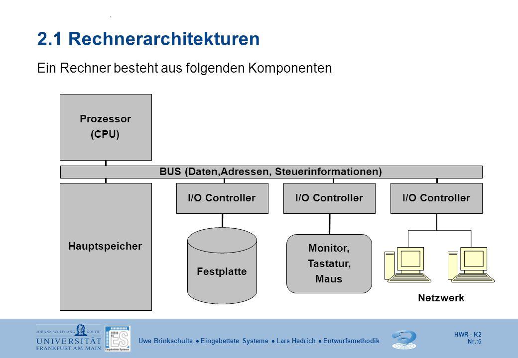 2.1 Rechnerarchitekturen