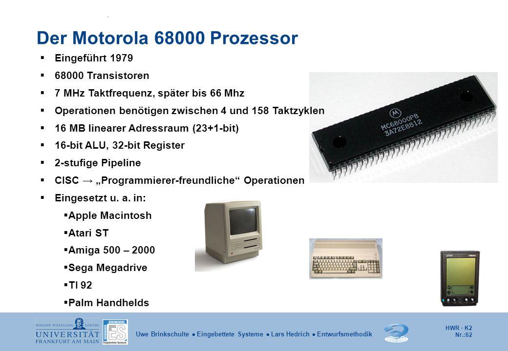 Der Motorola 68000 Prozessor