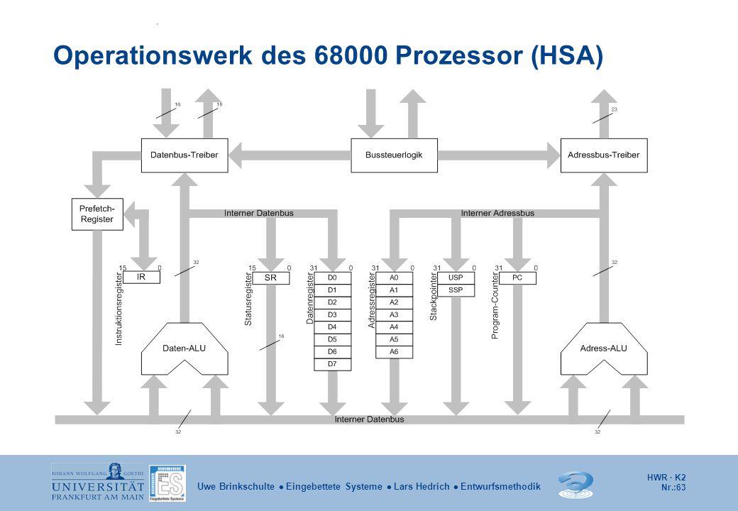 Operationswerk des 68000 Prozessor (HSA)
