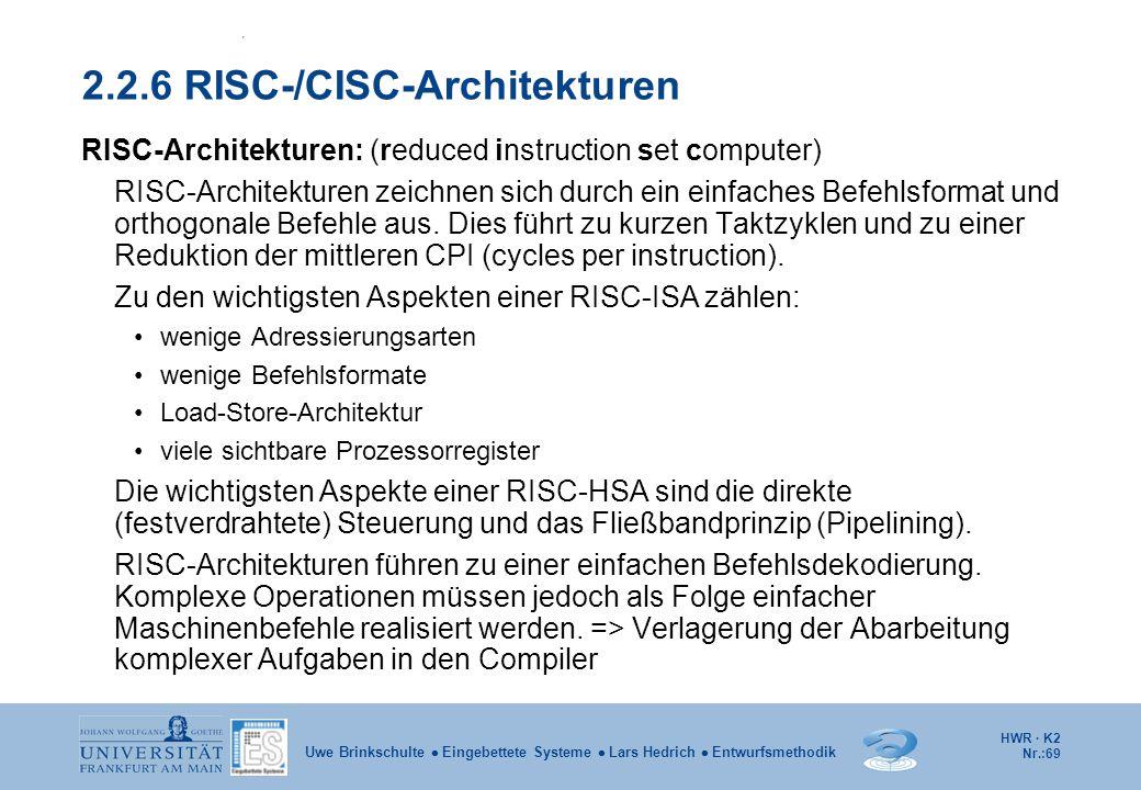 2.2.6 RISC-/CISC-Architekturen