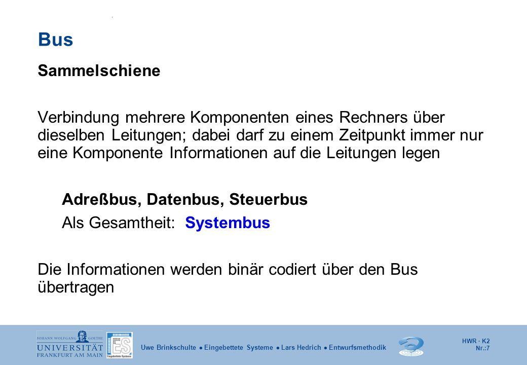 Bus Sammelschiene.