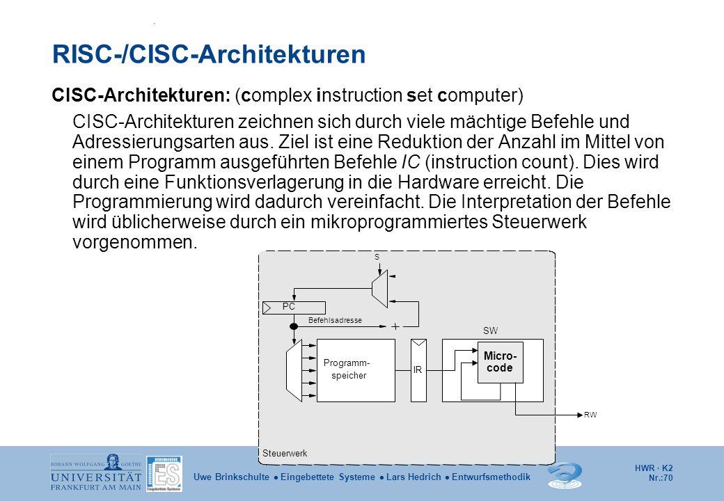 RISC-/CISC-Architekturen
