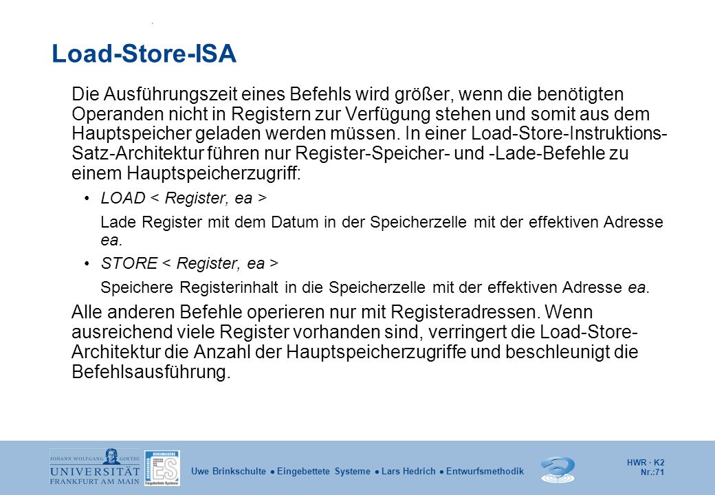 Load-Store-ISA
