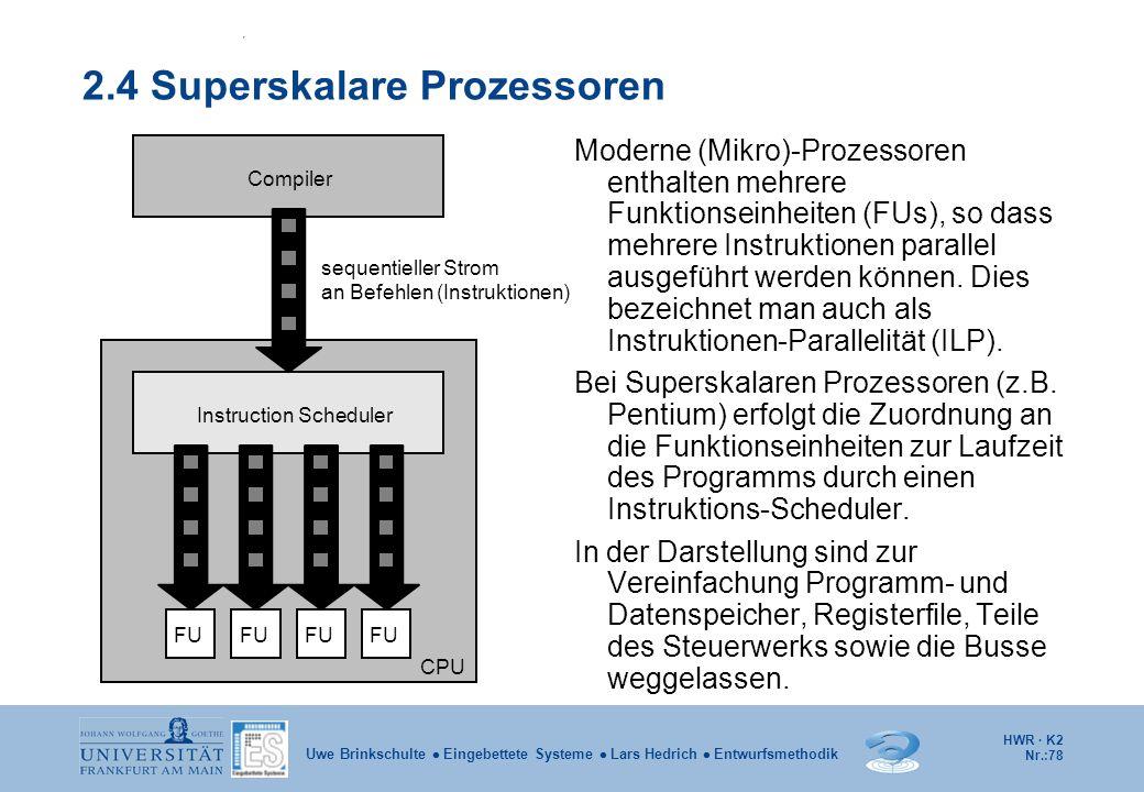 2.4 Superskalare Prozessoren