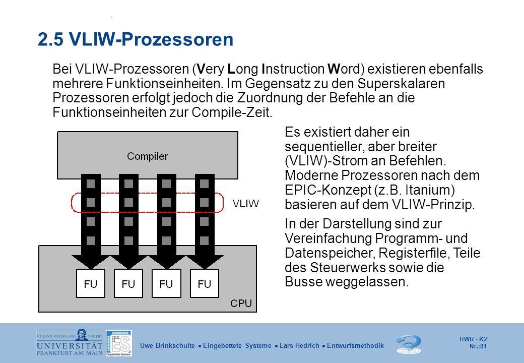 2.5 VLIW-Prozessoren