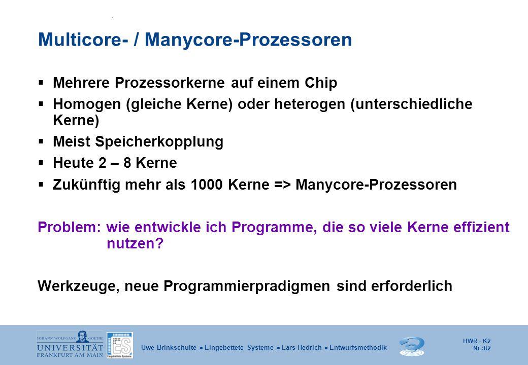 Multicore- / Manycore-Prozessoren