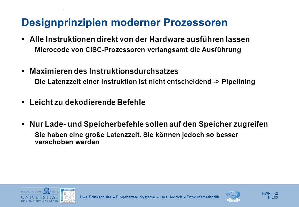 Designprinzipien moderner Prozessoren