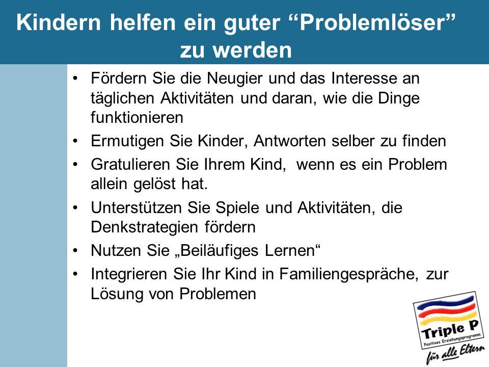 Kindern helfen ein guter Problemlöser zu werden