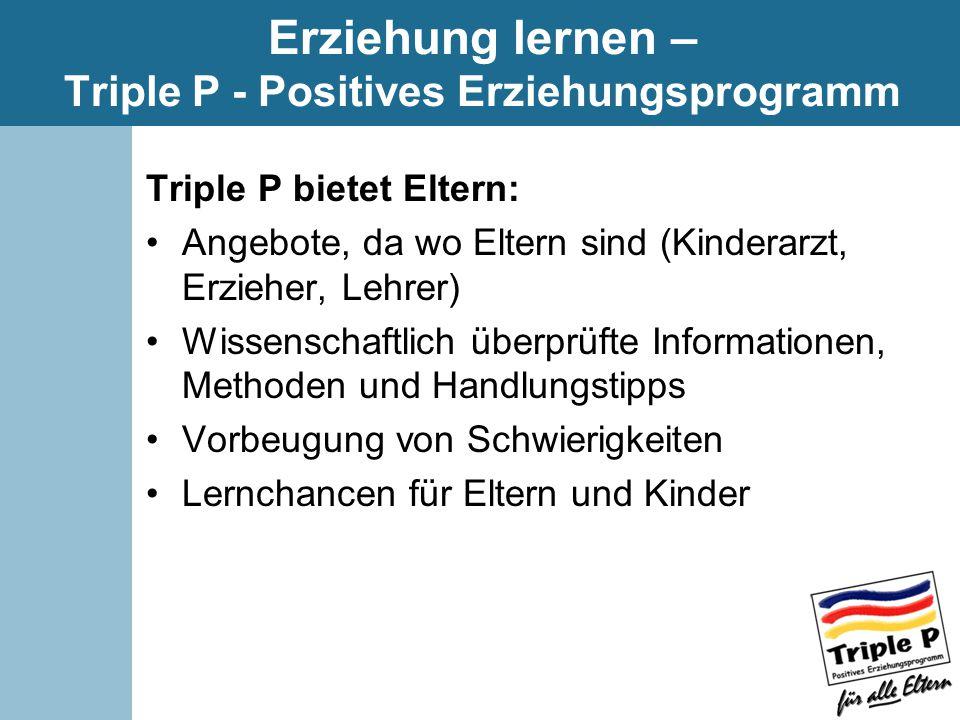 Erziehung lernen – Triple P - Positives Erziehungsprogramm