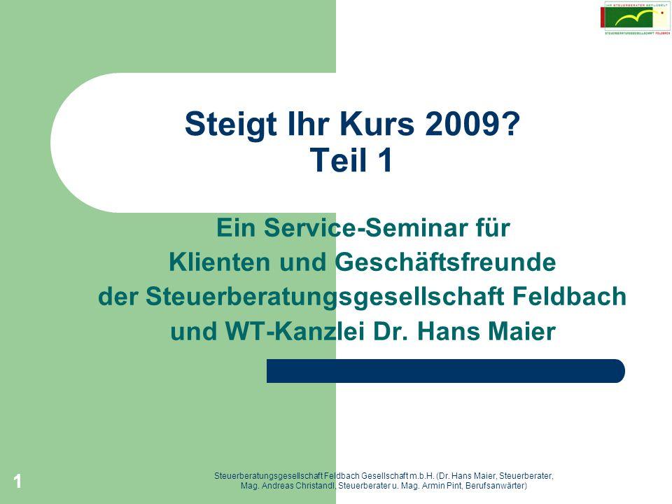 Steigt Ihr Kurs 2009 Teil 1 Ein Service-Seminar für