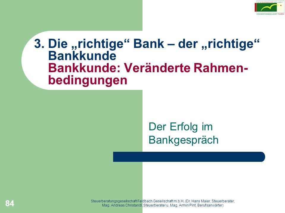 Der Erfolg im Bankgespräch