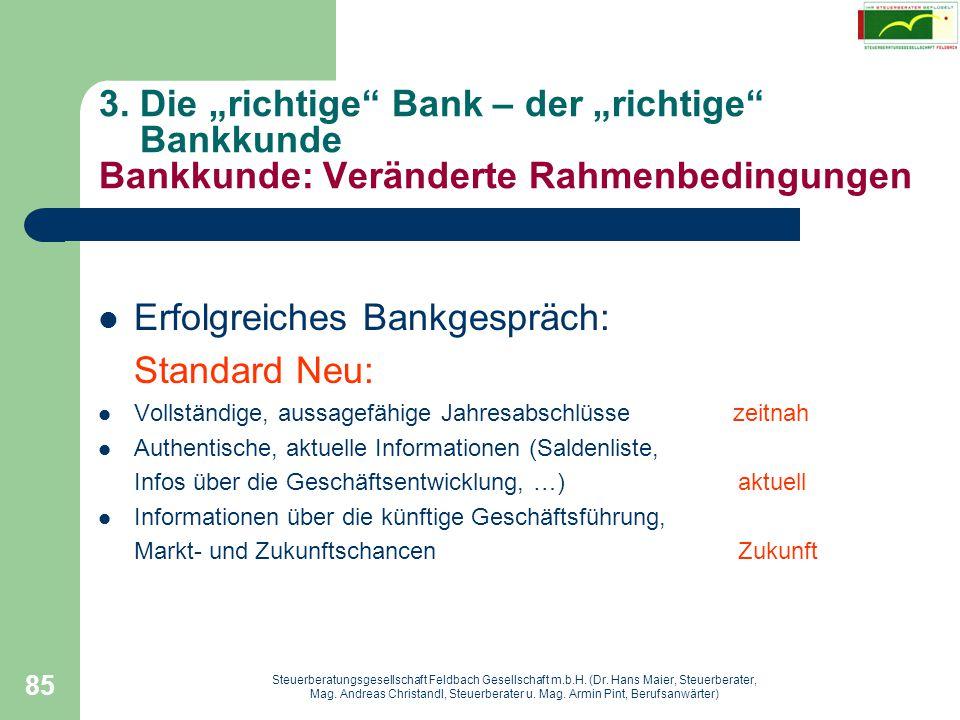 Erfolgreiches Bankgespräch: Standard Neu: