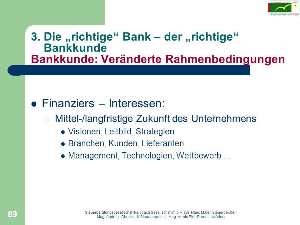 Finanziers – Interessen: