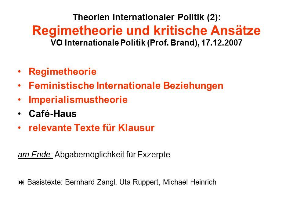 Feministische Internationale Beziehungen Imperialismustheorie