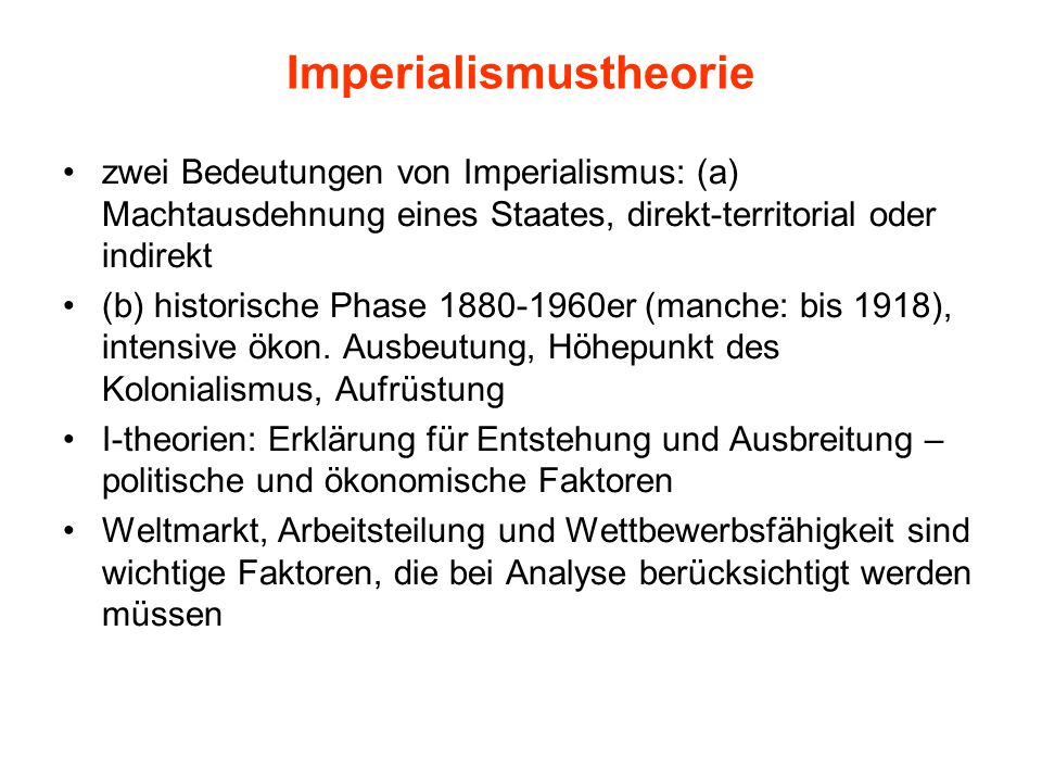 Imperialismustheorie