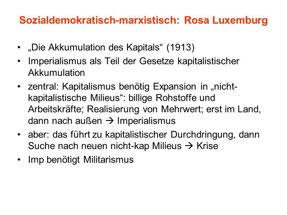 Sozialdemokratisch-marxistisch: Rosa Luxemburg