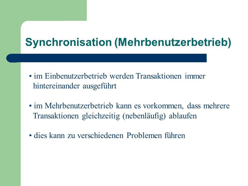 Synchronisation (Mehrbenutzerbetrieb)