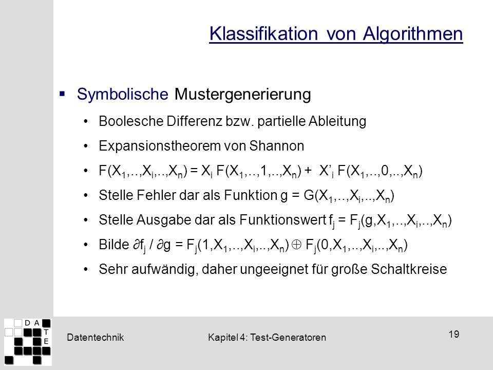 Klassifikation von Algorithmen