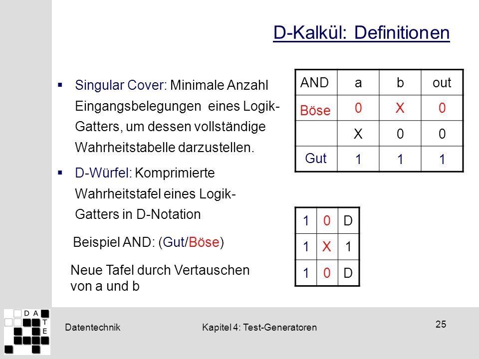 D-Kalkül: Definitionen