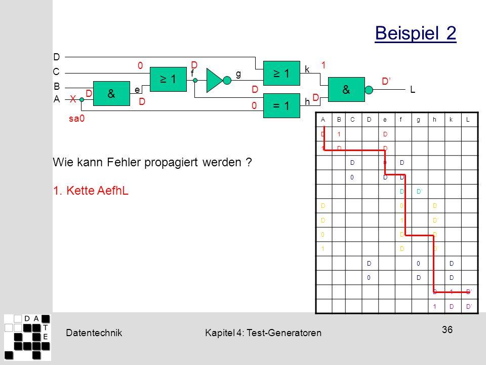 Beispiel 2 ≥ 1 ≥ 1 & & = 1 Wie kann Fehler propagiert werden