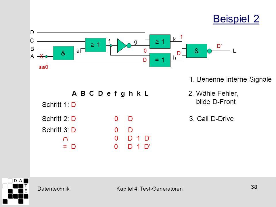 Beispiel 2 ≥ 1 ≥ 1 & & = 1 1. Benenne interne Signale