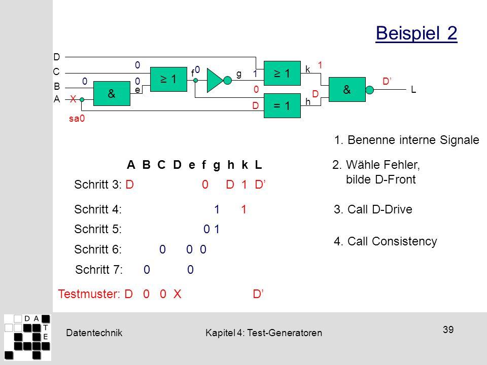 Beispiel 2 Schritt 6: 0 0 0 ≥ 1 ≥ 1 & & = 1 1. Benenne interne Signale