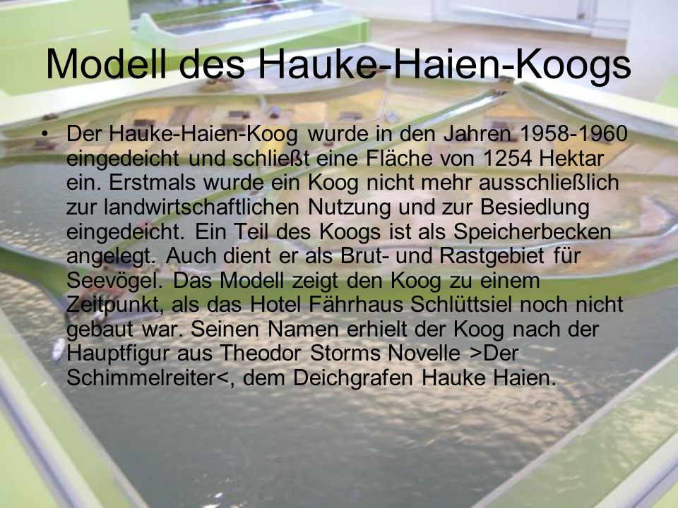 Modell des Hauke-Haien-Koogs