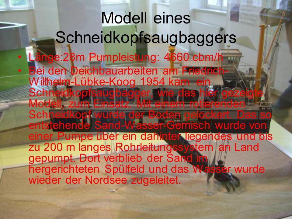 Modell eines Schneidkopfsaugbaggers