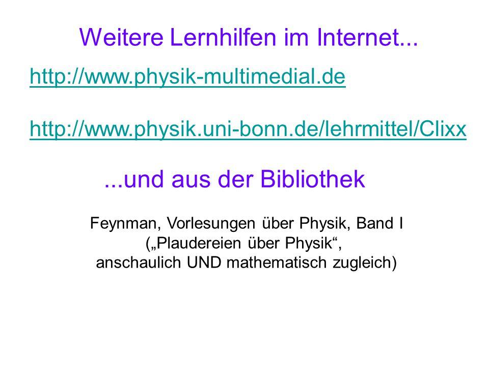 Weitere Lernhilfen im Internet...