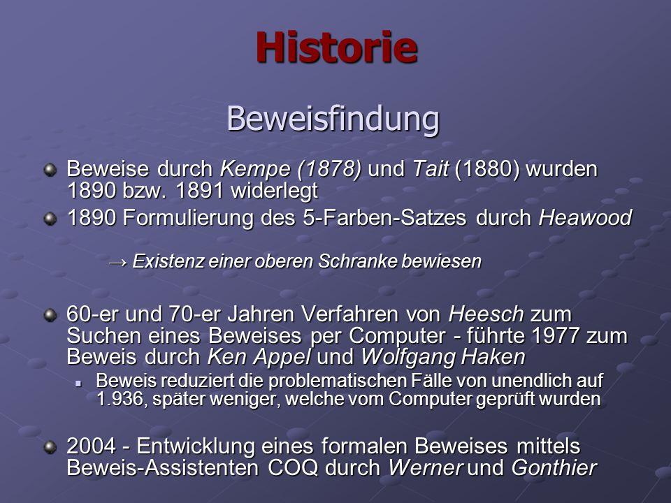 Historie Beweisfindung