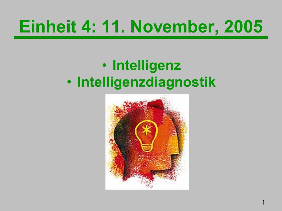 Intelligenzdiagnostik