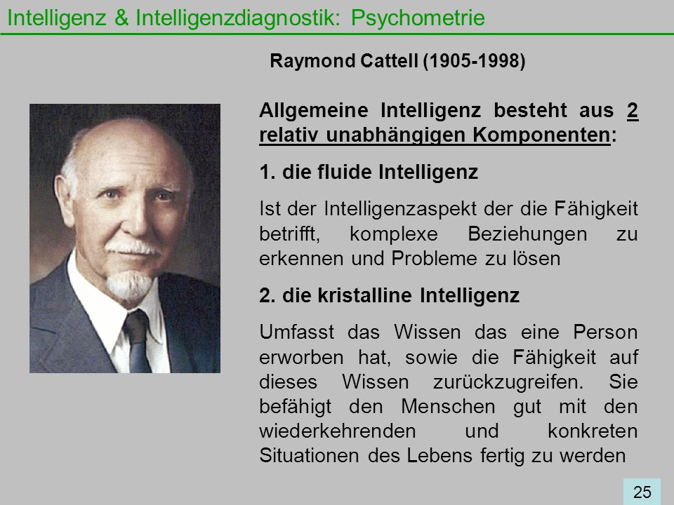 Intelligenz & Intelligenzdiagnostik: Psychometrie