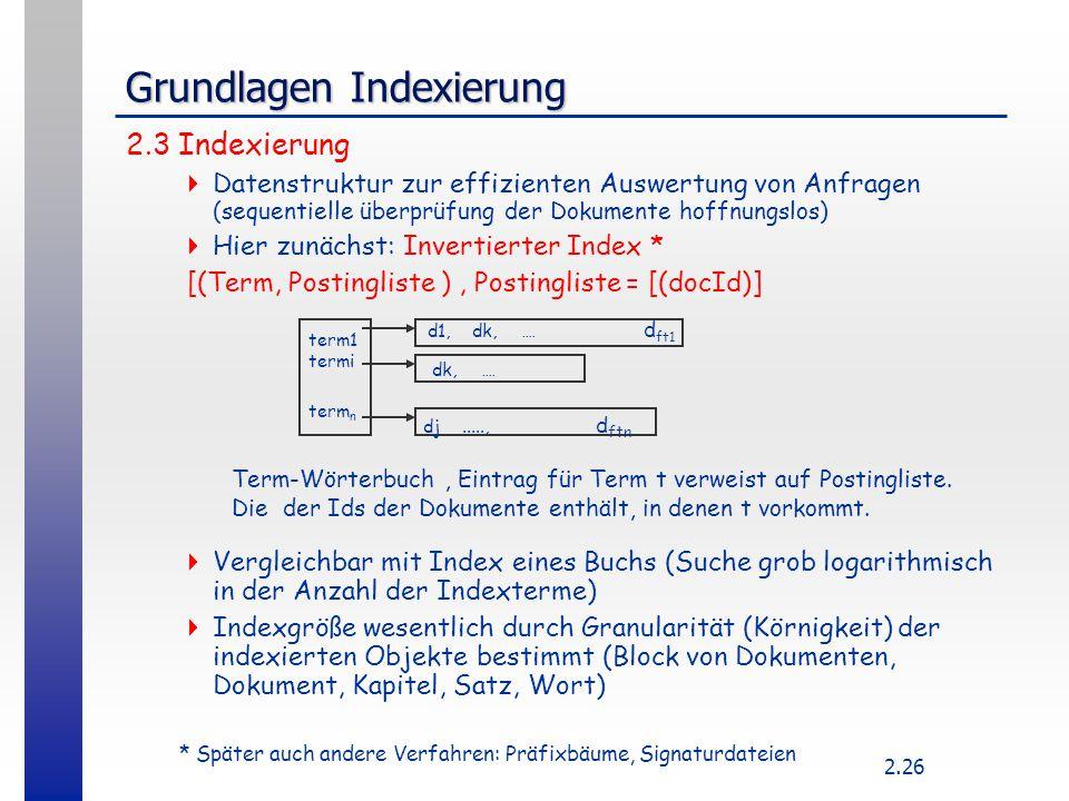 Grundlagen Indexierung