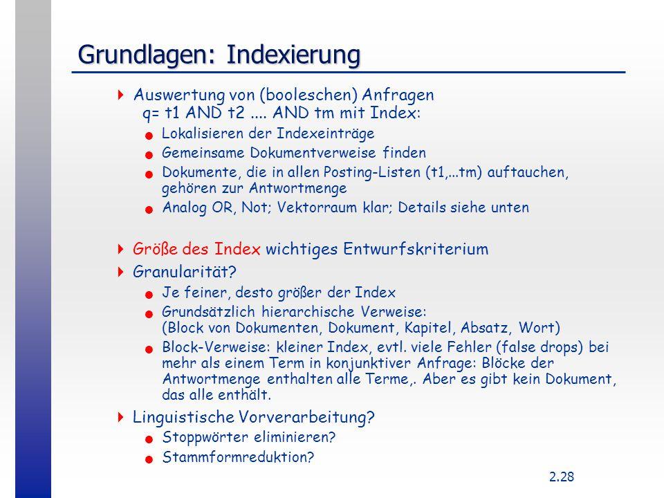 Grundlagen: Indexierung