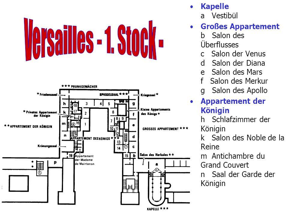Versailles - 1. Stock - Kapelle a Vestibül