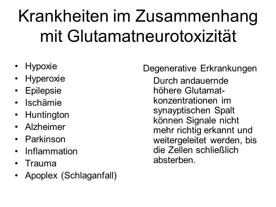 Krankheiten im Zusammenhang mit Glutamatneurotoxizität