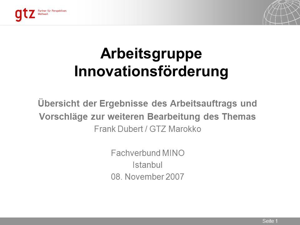 Arbeitsgruppe Innovationsförderung