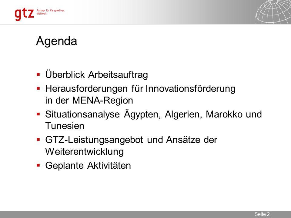 Agenda Überblick Arbeitsauftrag
