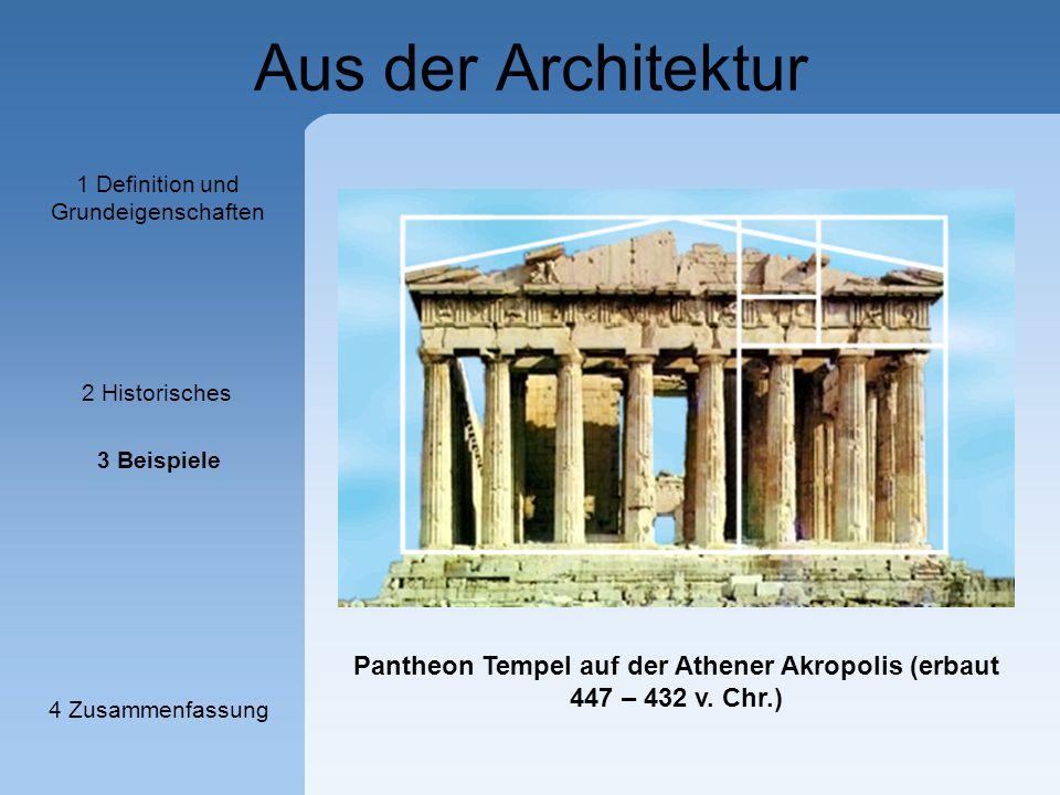 Pantheon Tempel auf der Athener Akropolis (erbaut 447 – 432 v. Chr.)