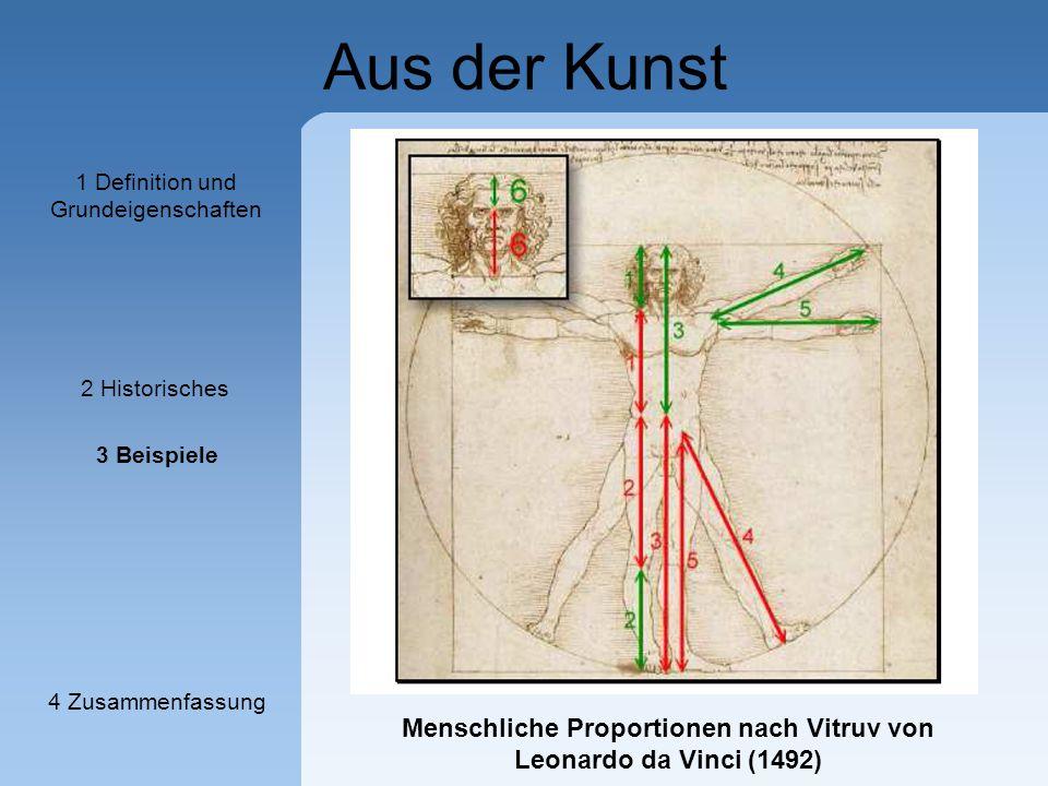 Menschliche Proportionen nach Vitruv von Leonardo da Vinci (1492)