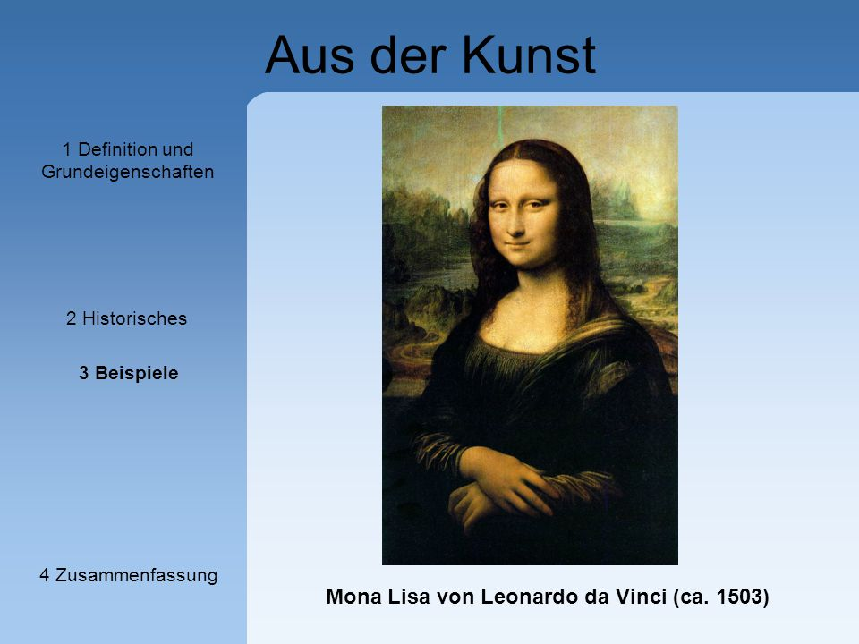 Mona Lisa von Leonardo da Vinci (ca. 1503)