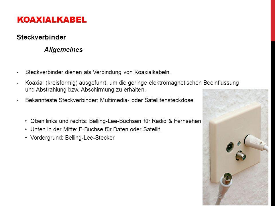 Koaxialkabel Steckverbinder Allgemeines
