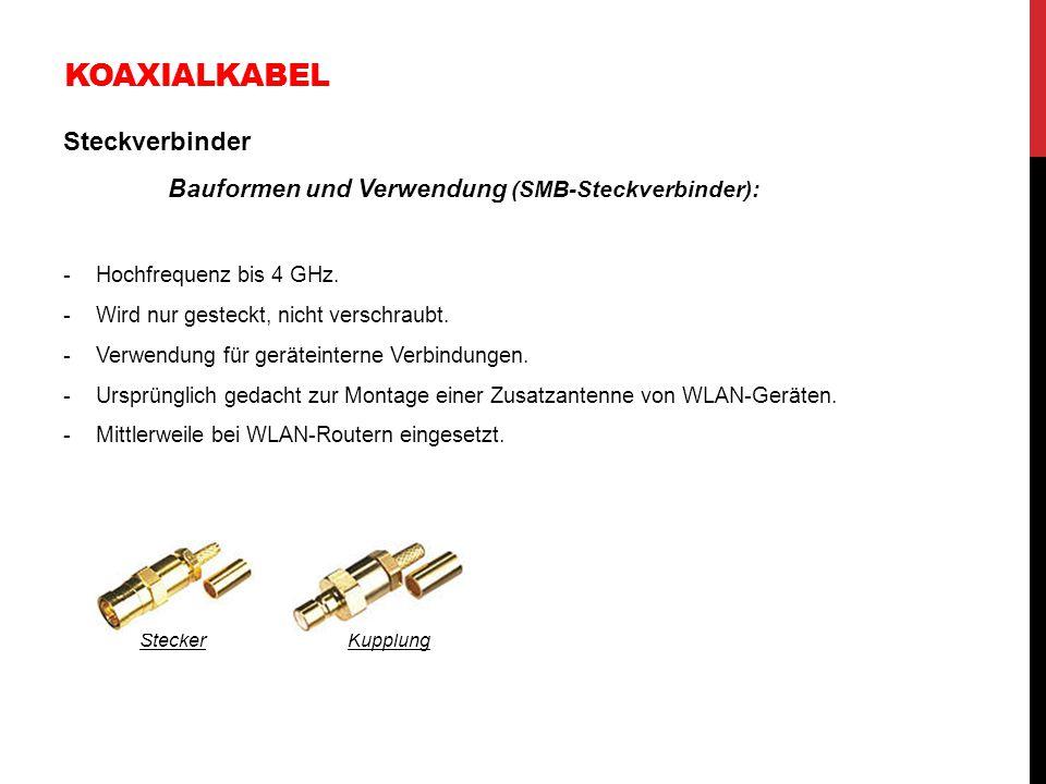 Koaxialkabel Steckverbinder