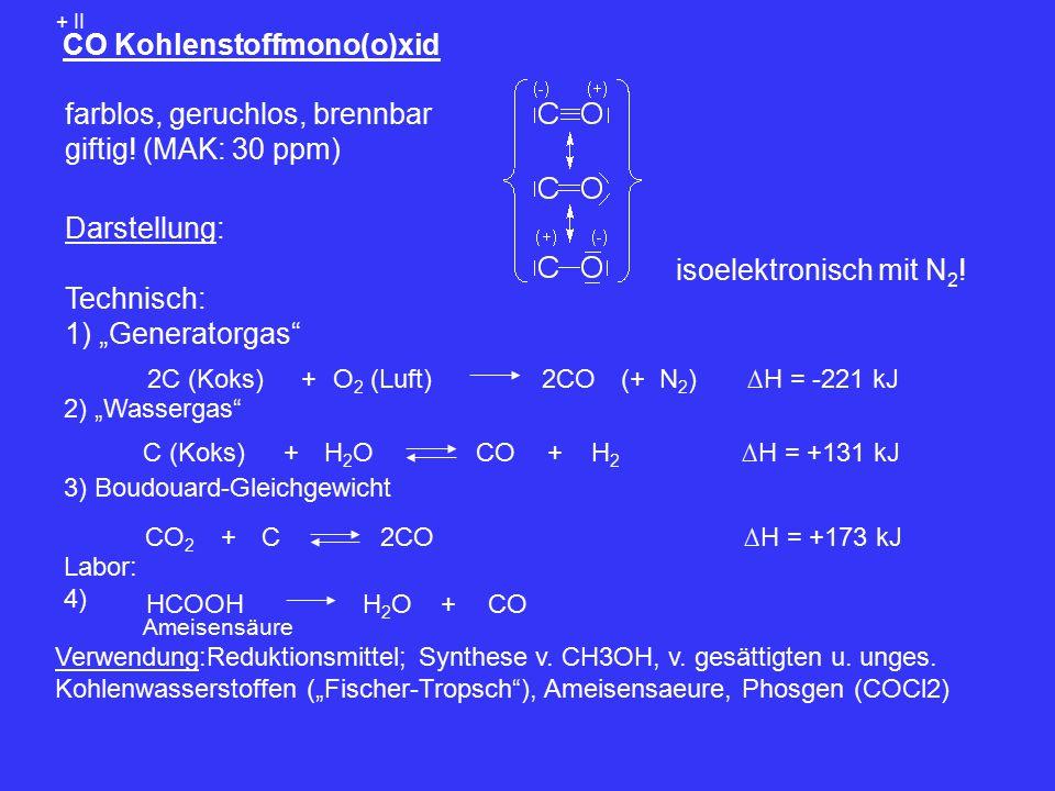 CO Kohlenstoffmono(o)xid