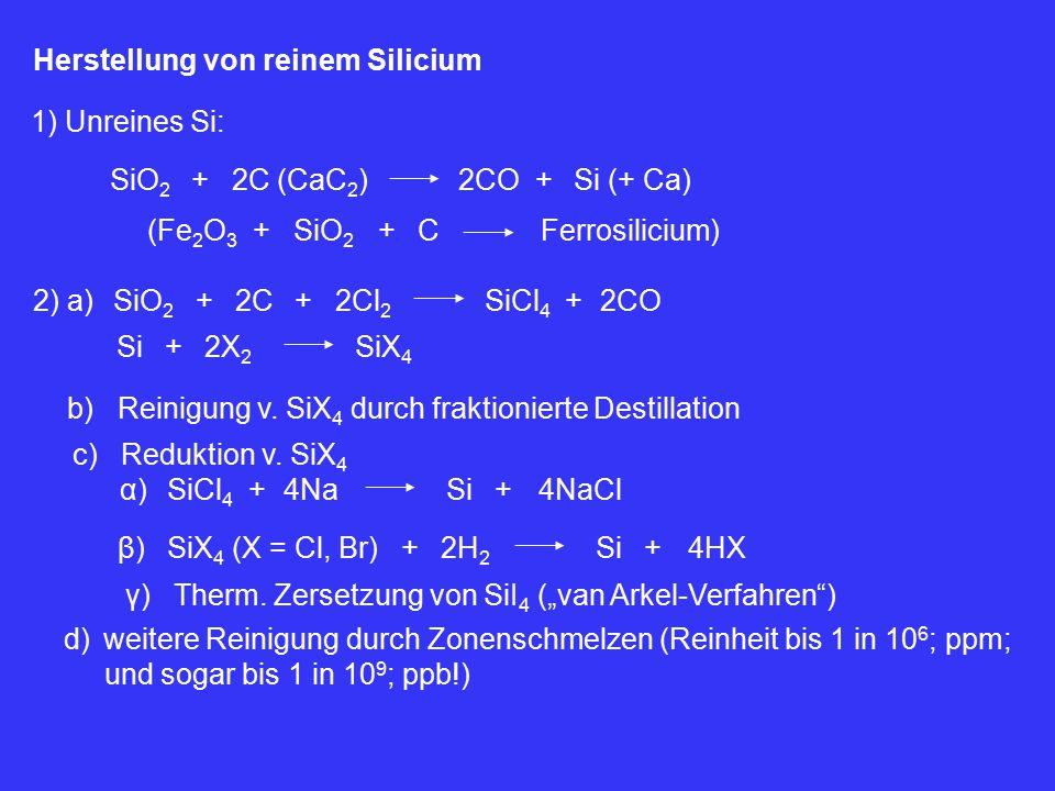 Herstellung von reinem Silicium