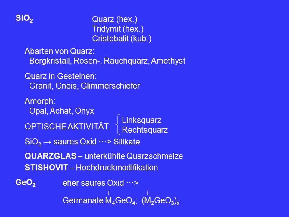 Bergkristall, Rosen-, Rauchquarz, Amethyst Quarz in Gesteinen: