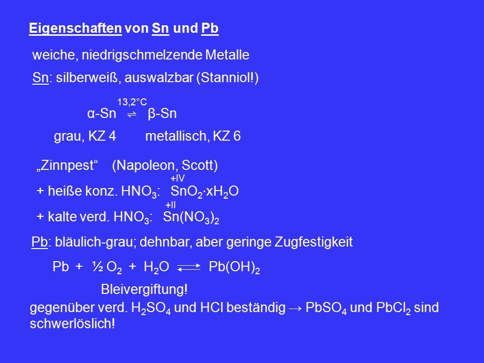 Eigenschaften von Sn und Pb
